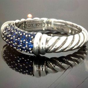 David Yurman sterling silver blue sapphire